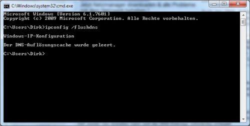 Windows 7 DNS-Cache löschen