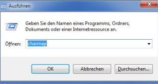 Windows 7 Ausführen-Fenster