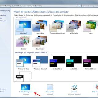 Windows 7: Hintergrundbild entfernen