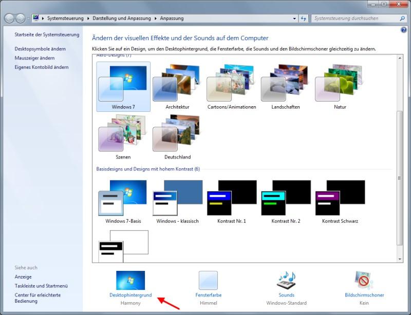 Darstellung von Windows anpassen