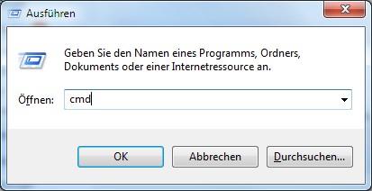 Windows ausführen CMD