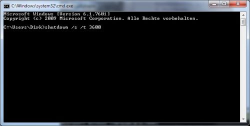 Windows 7 zeitgesteuert herunterfahren
