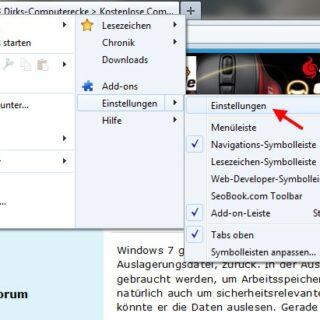 Browser: Temporäre Dateien beim Firefox löschen