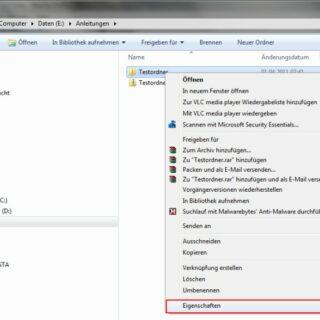 Windows 7: Dateien und Ordner im Netzwerk freigeben