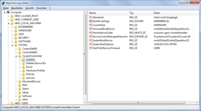 Registry Schreibschutz für USB-Stick einrichten