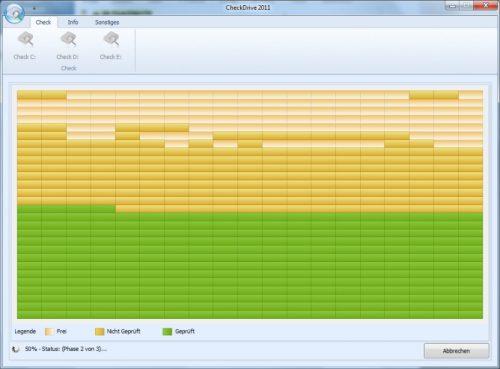 Festplatte testen mit CheckDrive