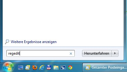 Registry-Editor öffnen Windows 7