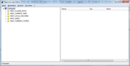Registrierungs-Editor von Windows