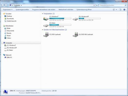 Laufwerksbuchstaben im Windows Explorer zuerst anzeigen