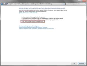 Windows Fehlerberichterstattung deaktivieren