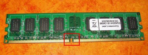 DDR2 Arbeitsspeicher-Modul Kontakte