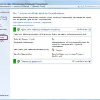 Einen bestimmten Port in der Windows-Firewall freigeben