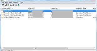 Produkey Seriennummern für Windows und Office auslesen