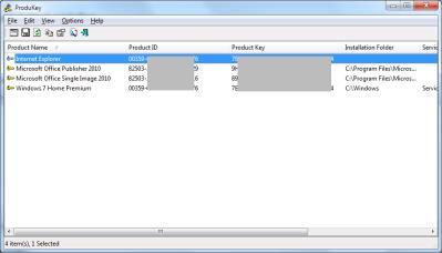 Nirsoft Produkey: Seriennummern für Microsoft Windows und Office auslesen