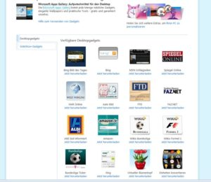 Windows 7: Minianwendungen bzw. Gadgets auf dem Desktop installieren