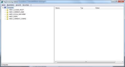 Registrierungs-Editor von Windows