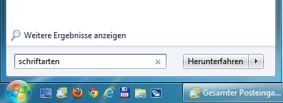 Windows 7 Schriftart deinstallieren