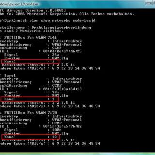 WLAN-Funkkanäle in der Umgebung unter Windows herausfinden