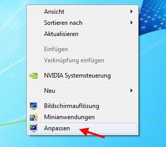 Gelöschtes Desktopsymbol vom Papierkorb wiederherstellen bei Windows 7