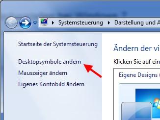 Desktopsymbol Papierkorb ändern