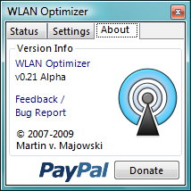 WLAN Optimizer Informationen