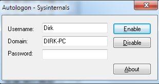 Freeware Autologon automatische Anmeldung einrichten