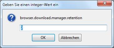 Einstellung zum automatischen Löschen der Download Chronik