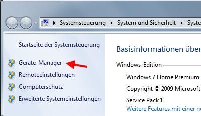 Ruhezustand von Windows 7 funktioniert nicht