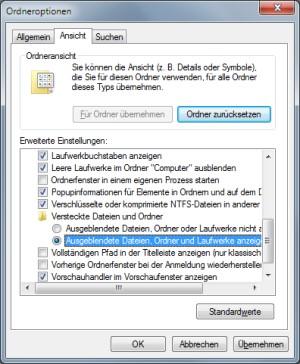 IconCache.db löschen und Symbol-Darstellugn reparieren