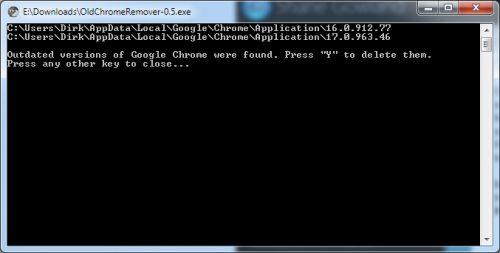ältere Versionen des Browser Chrome löschen