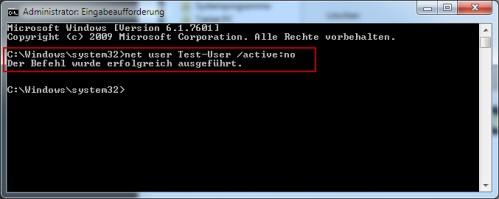 Benutzerkonto deaktivieren bei Windows 7