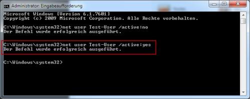 Benutzerkonto aktivieren bei Windows 7