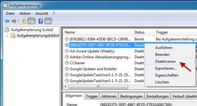 Windows 7 Wartungsaufgaben deaktivieren