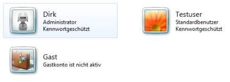 Windows 7 neues Benutzerkonto