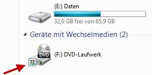 CD oder DVD-Laufwerk freigeben und im Netzwerk nutzen bei Windows 7