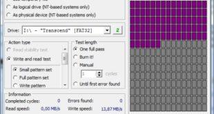 Check Flash Test Schreibgeschwindigkeit USB-Stick