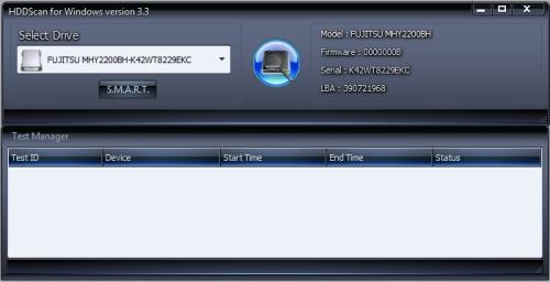 HDDScan - kostenloses Festplatten-Diagnose Tool
