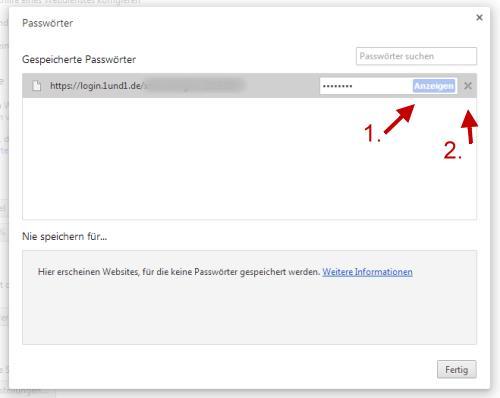 Google Chrome: Gespeicherte Passwörter anzeigen und löschen