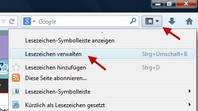 So kann man gelöschte Lesezeichen im Firefox wiederherstellen