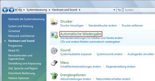 Automatische Wiedergabe von USB-Sticks und USB-Festplatten deaktivieren
