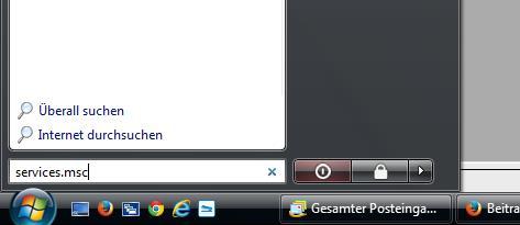 Dienste-Verwaltung von Windows öffnen