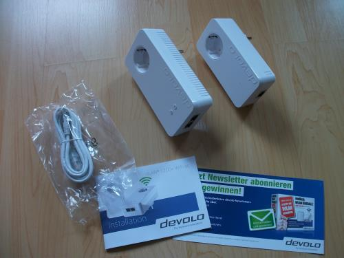 Lieferumfang dLAN 1200+ WiFi ac