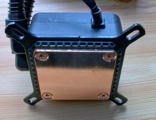 CPU-Kühlblock mit Halterung