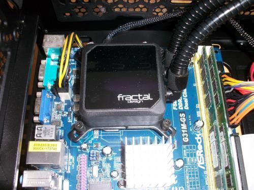Wasskühlung CPU-Kühlblock eingebaut