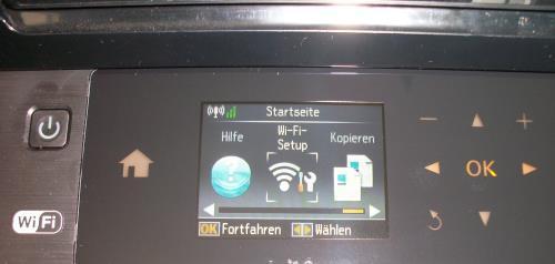 WiFi-Setup am Epson Drucker