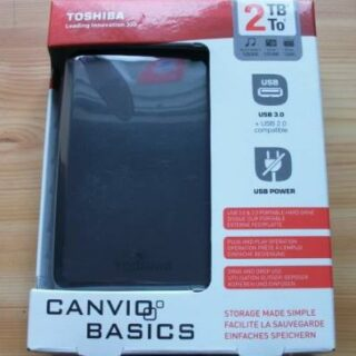 Externe Festplatte Toshiba Canvio Basics mit 2 TB im Test