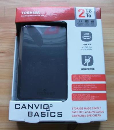 Toshiba Canvio Basics Verpackung