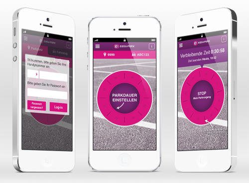 EasyPark App auf dem iPhone