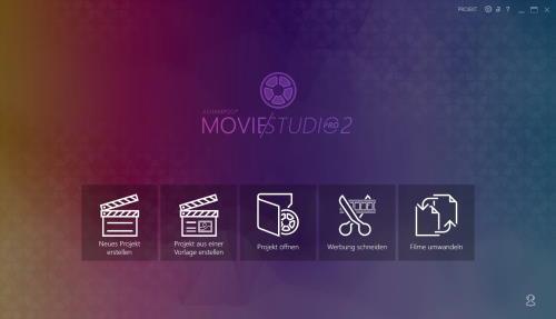 Ashampoo Movie Studio Pro 2 Hauptbildschirm