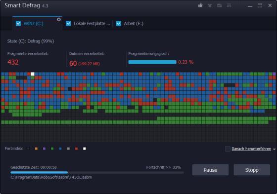 Festplatte analysieren und defragmentieren